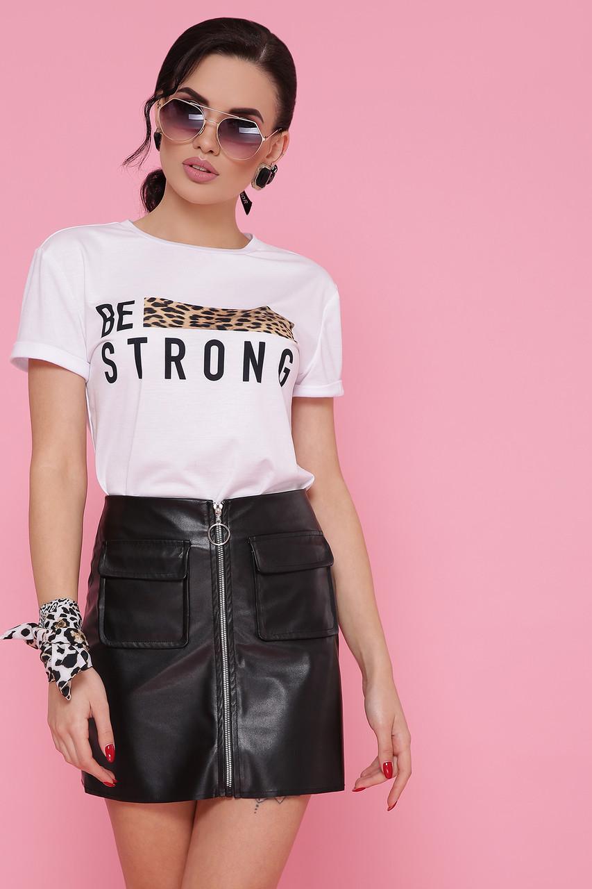 Леопард-полоска футболка Boy-2