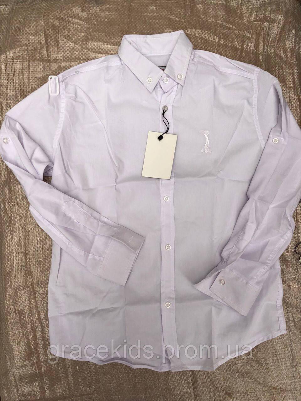 Белые рубашки для мальчиков подростковые оптом US.Golf Club,разм 146-170 см,Турция