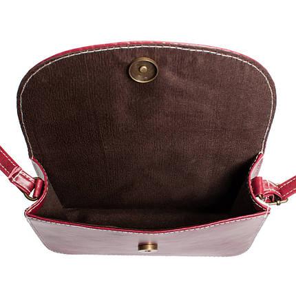 Женская маленькая сумка бордовая с заклепками (988898326), фото 2