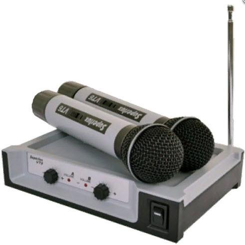 SUPERLUX VT96EE Двухканальная VHF радиосистема с 2-мя ручными динамическим микрофонами