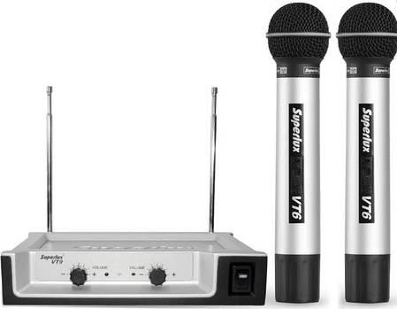 SUPERLUX VT96EE Двухканальная VHF радиосистема с 2-мя ручными динамическим микрофонами, фото 2