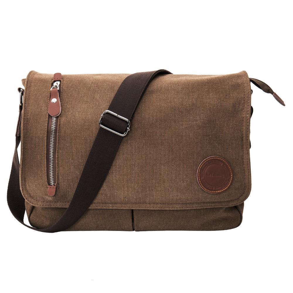 Сумка брезентова, сумка  через плече коричнева