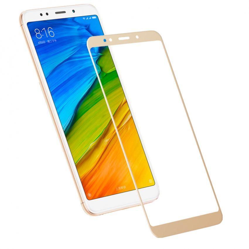 Защитное стекло 5D full glue для XIAOMI Redmi Note 4X - золотой