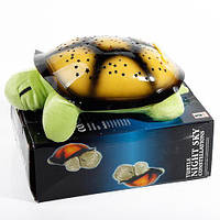 Нічник-проектор зоряного неба музична черепаха Music Turtle Night Light