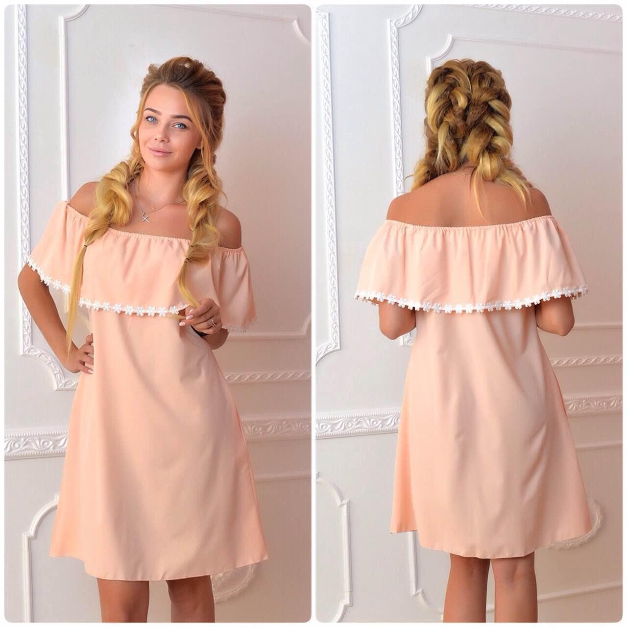 Сукні / сарафан вільного крою, арт 786, колір персик