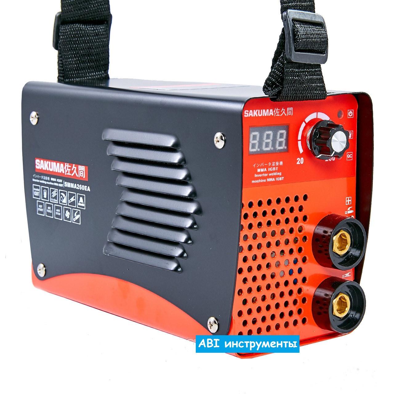 Сварочный инвертор Sakuma SMMA260EA (260 А + цифровой дисплей)