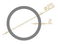 Труба круглая 25х2