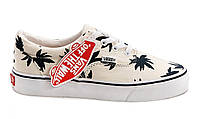 Женские кеды Vans Authentic белые с пальмами