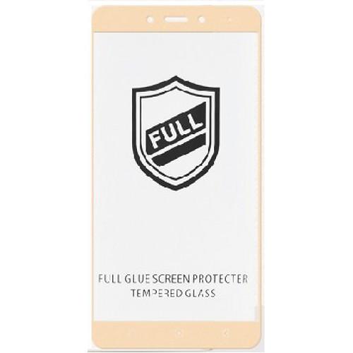 Защитное стекло 5D full glue для XIAOMI Redmi 5X - золотой