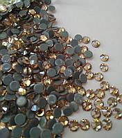 Стразы А+ Премиум, Gold Shadow AB SS10 (2.7 мм) термоклеевые. Цена за 144 шт., фото 1