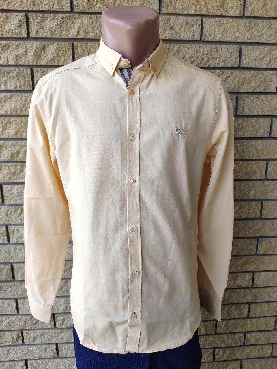 Рубашка мужская коттоновая брендовая высокого качества BURBERRI, Турция