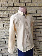Рубашка мужская коттоновая брендовая высокого качества BURBERRI, Турция, фото 2