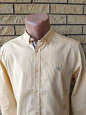 Рубашка мужская коттоновая брендовая высокого качества BURBERRI, Турция, фото 3