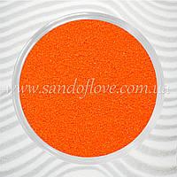 Оранжевий кольоровий пісок для весільної церемонії пісочної, фото 1