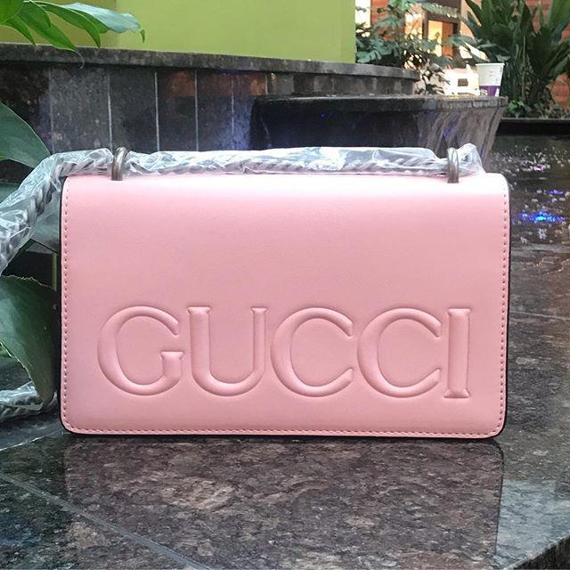 Женская сумка Gucci (Гуччи), розовый цвет