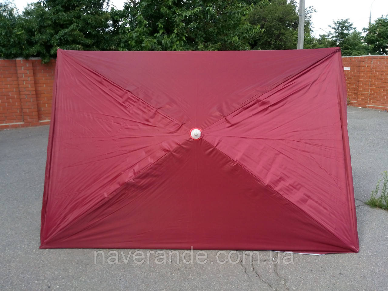 Прямоугольный большой торговый зонт от солнца (красный 2х3 м)