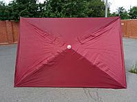 Прямоугольный большой торговый зонт от солнца (красный 2х3 м), фото 1