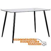 Стол обеденный Умберто черный / стекло