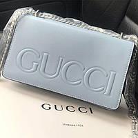 Женская сумка Gucci (Гуччи), голубой цвет, фото 1
