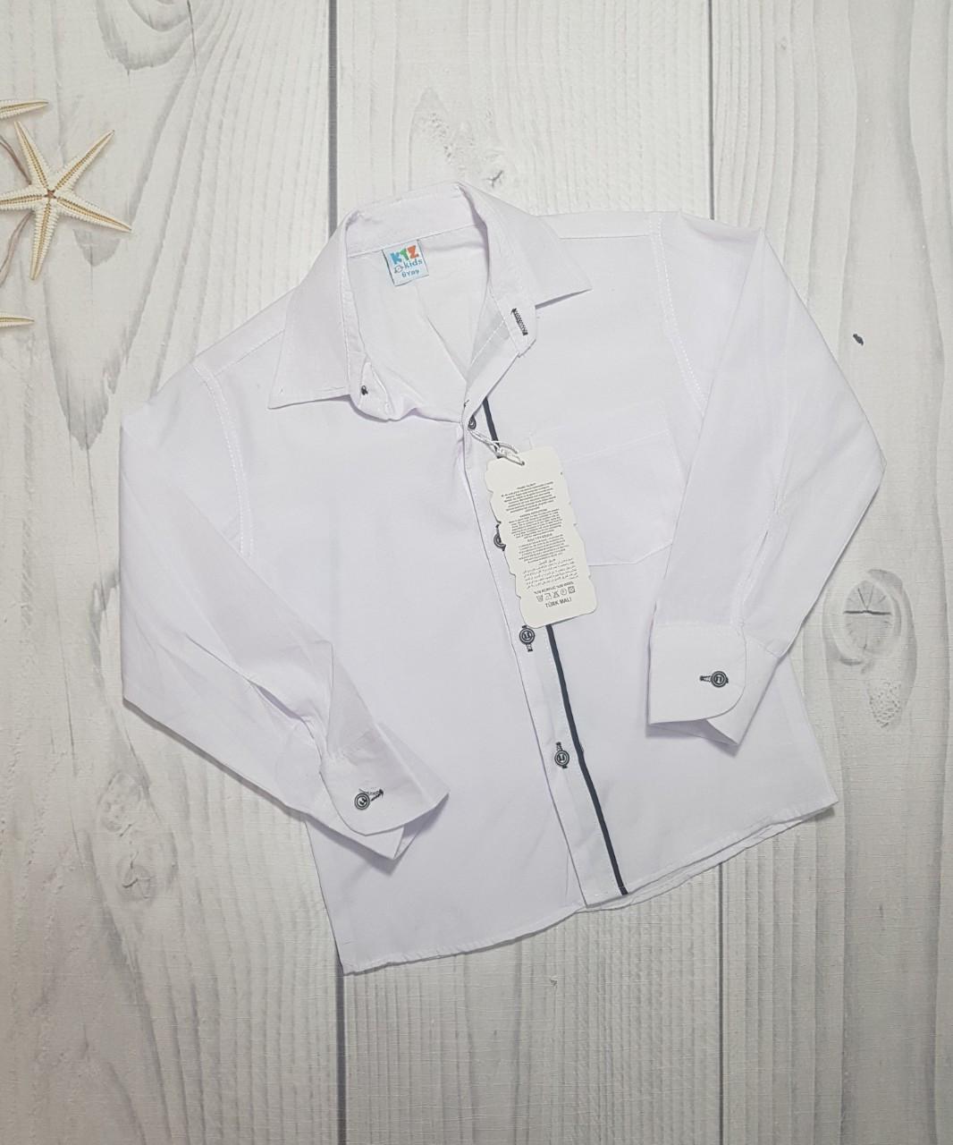Подростковая рубашка для мальчика длинный рукав 10-13лет  опт