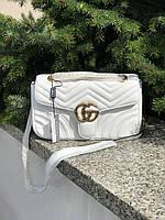 Женская сумка Gucci (Гуччи) Marmont, белый цвет, фото 1