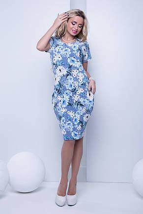 Летнее повседневное платье с цветочным принтом, фото 2