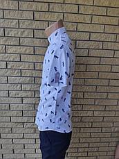 Рубашка мужская летняя коттоновая стрейчевая брендовая высокого качества реплика LACOSTE, Турция, фото 3