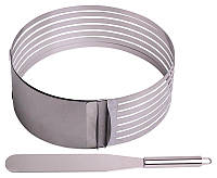 Форма Kamille для нарезки бисквита 15-22см, регулируемая с ножом