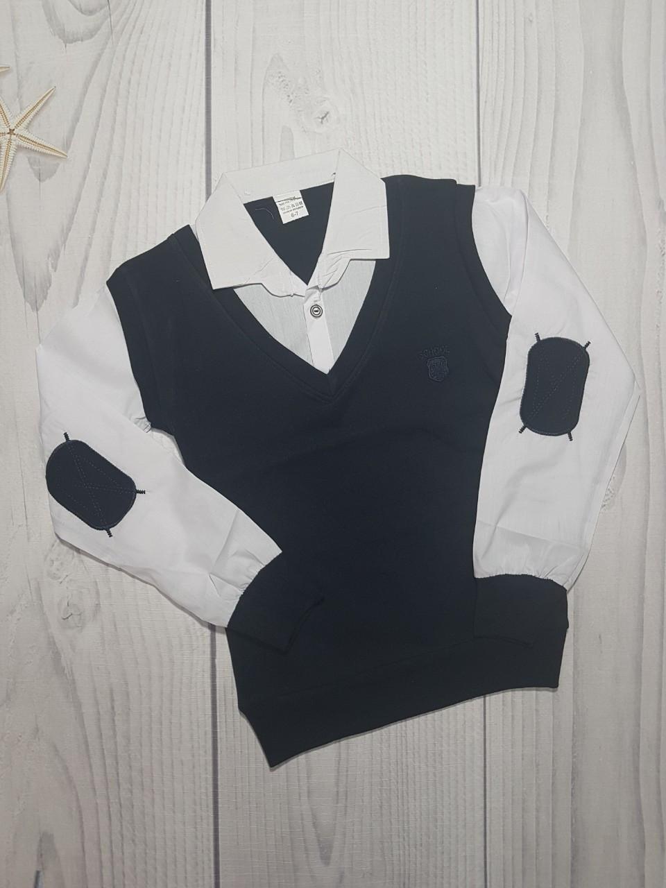 Рубашка для мальчика обманка 6-15лет опт