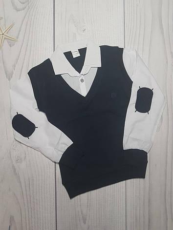 Рубашка для мальчика обманка 6-15лет опт, фото 2