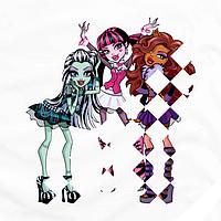 Рисунки из страз на ботинки термо Monster High