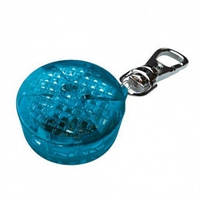 Брелок-фонарик с карабином пластик синий 3,5см 13442