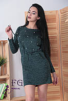 Платье свободного кроя выполнено из теплой и мягкой ангоры-софт.