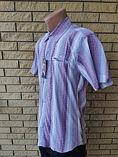 Рубашка мужская летняя коттоновая стрейчевая брендовая высокого качества MARCO ARMA, Турция, фото 2