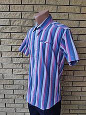 Рубашка мужская летняя коттоновая стрейчевая брендовая высокого качества MARCO ARMA, Турция, фото 3