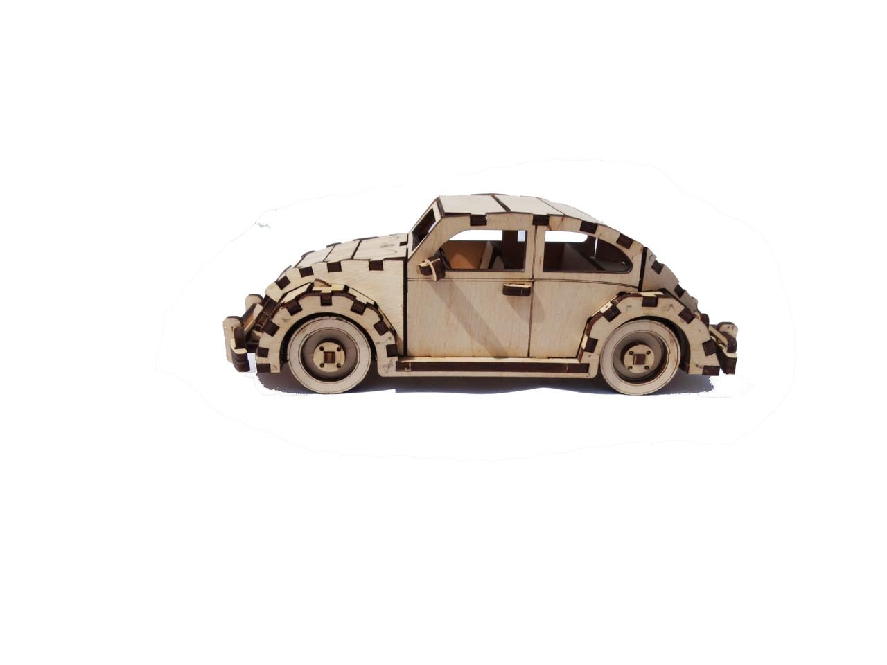 Дерев'яний конструктор 3D пазл Volkswagen