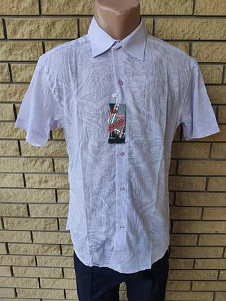 Рубашка мужская летняя коттоновая брендовая высокого качества MARCO ARMA, Турция, фото 2