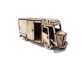 Деревянный конструктор 3D пазл Citroen-H, фото 3