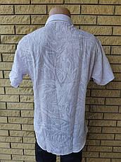 Рубашка мужская летняя коттоновая брендовая высокого качества MARCO ARMA, Турция, фото 3