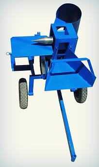 Измельчитель веток с приводом от мототрактора (двухсторонняя заточка) (ДР8) | Дровокол (подрібнювач гілок під мототрактор з шківом без конуса,