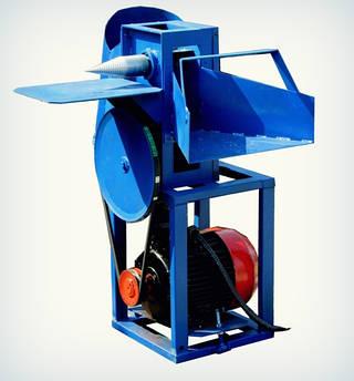 Измельчитель веток с приводом от электродвигателя (двухсторонняя заточка) (ДР9) | Дровокол (подрібнювач гілок під ел. двигун з шківами, без ременя,