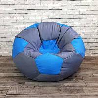 Кресло-мяч KatyPuf серое Оксфорд, Размер 50см