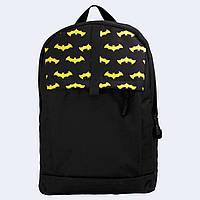Рюкзак кожаный Twins с Бэтменом черный