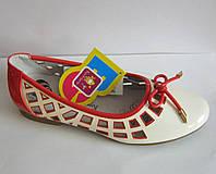 Балетки-туфли летние подростковые. Размеры 33-38