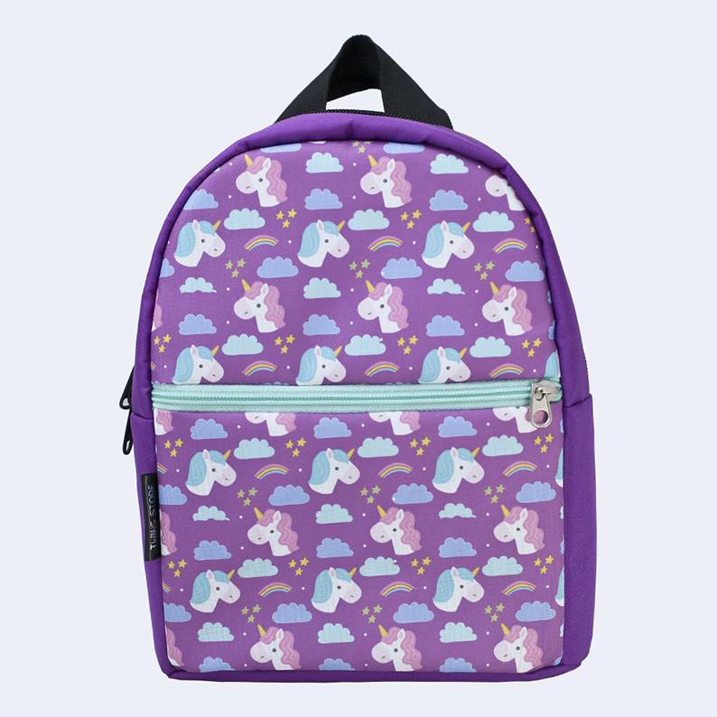 Рюкзак детский Twins с единорогами фиолетовый