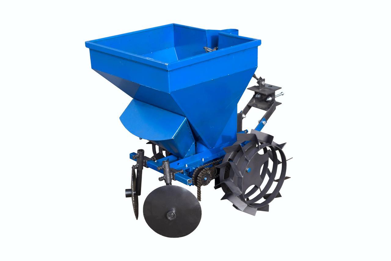 Картофелесажалка к мототрактору с бункером для удобрений (КС13) | Картоплесаджалка до мототрактора з бункером для добрив