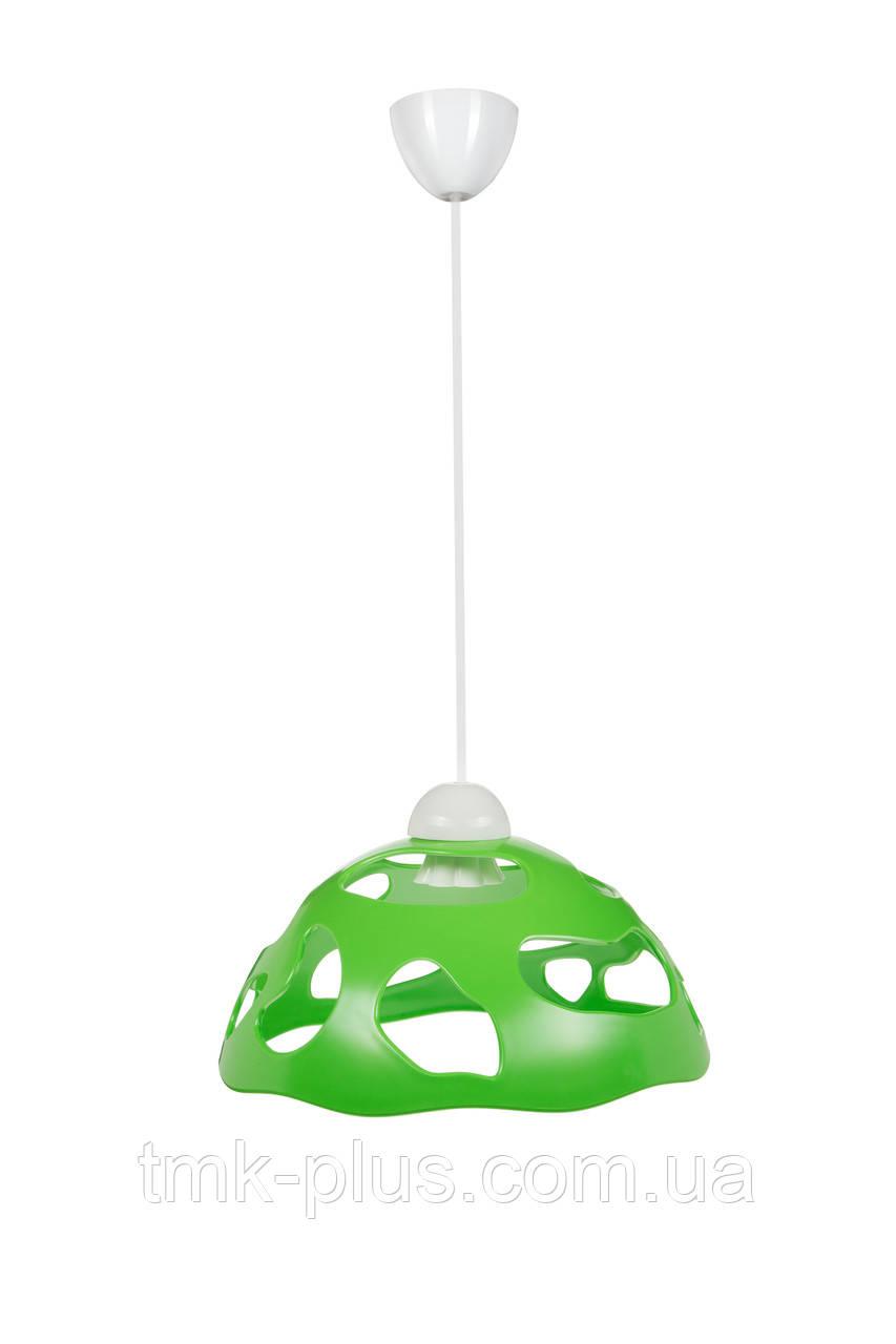 Декоративний світильник ERKA 1304 стельовий 60 W салатовий Е27