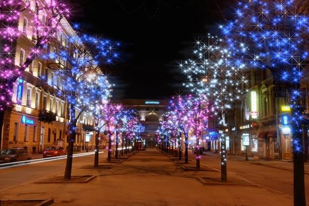 Новогодние  уличные гирлянды