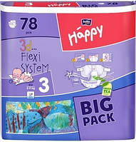 Подгузники Bella Happy Midi 3 (5-9кг.) BIG PACK 78шт.