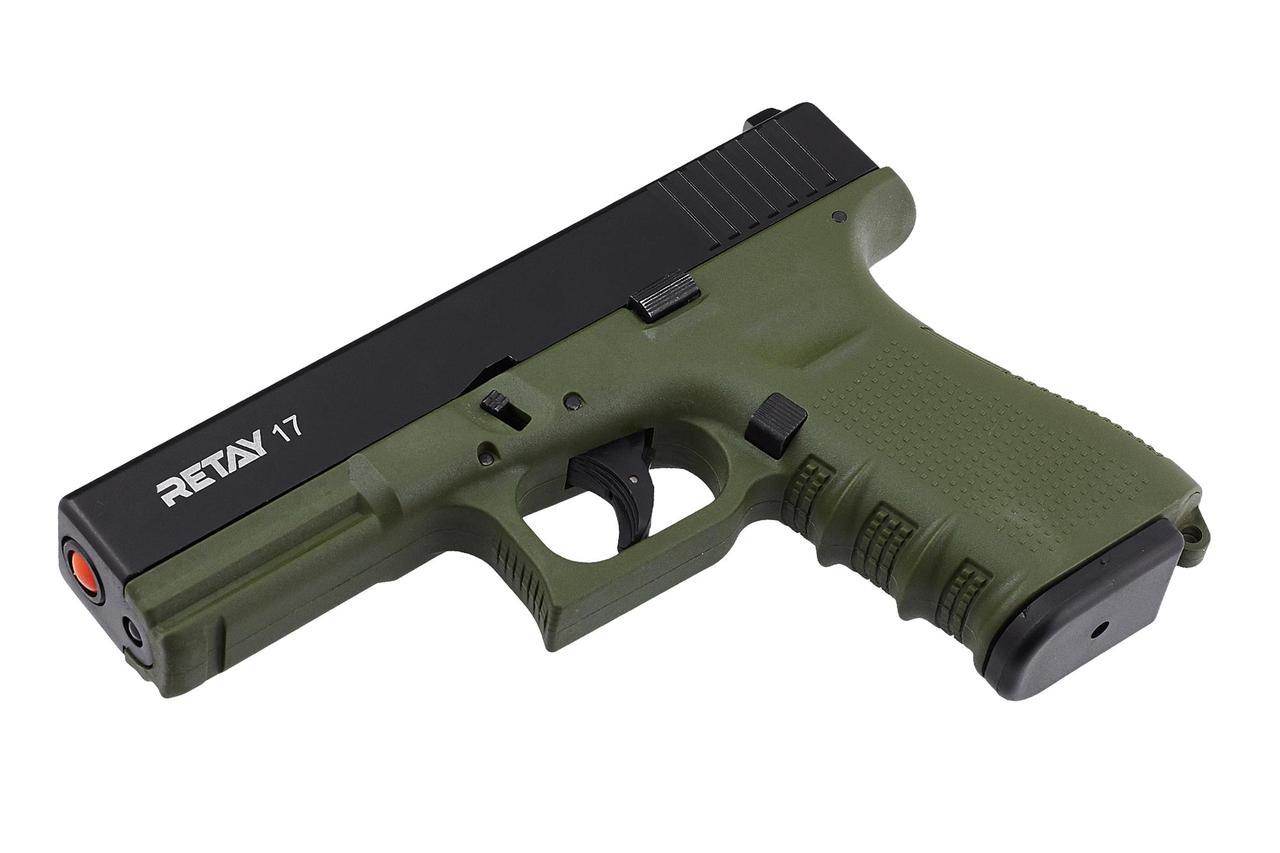 Пистолет стартовый Retay G17 Olive (Kопия Глок 17) - купить в Украине. Цена, описание, характеристики, отзывы